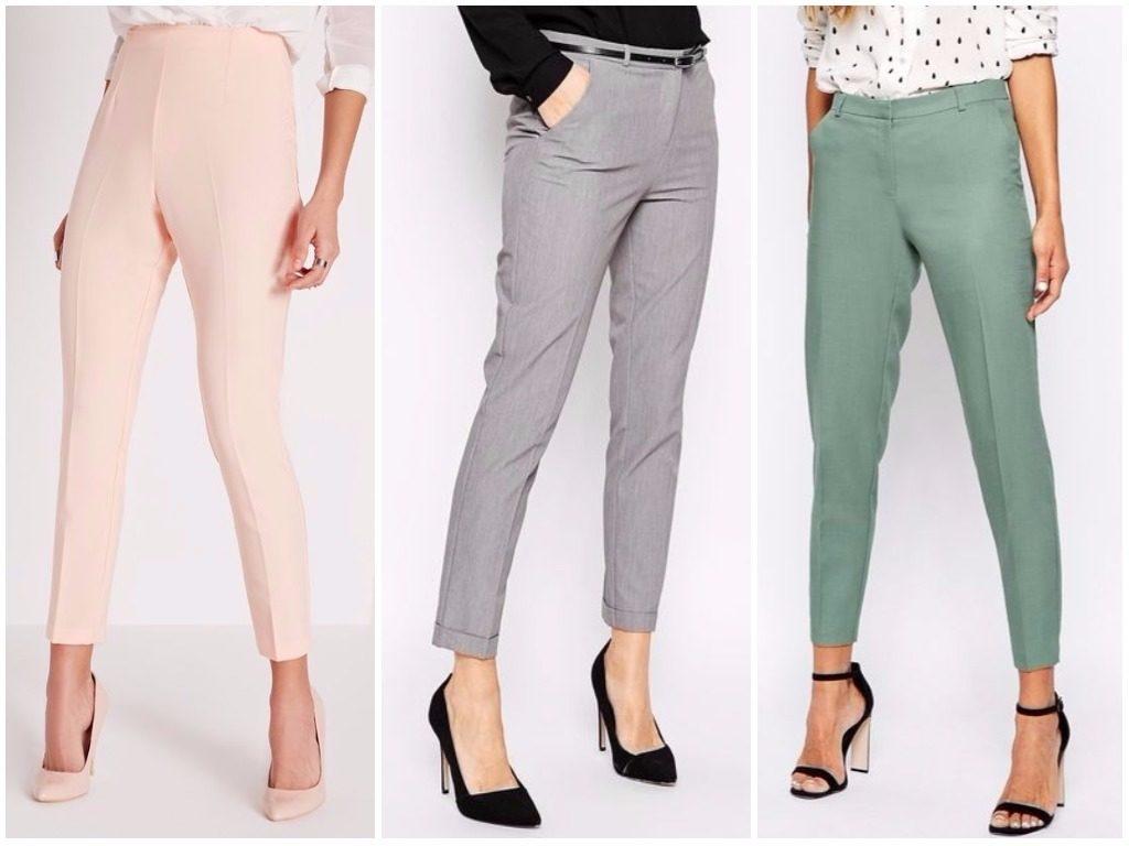 Мода в женской одежде - короткие брюки бежевые серые зеленые
