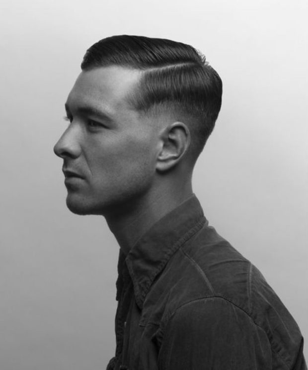 мужские стрижки 2018-2019: под фрица на среднюю длину волос