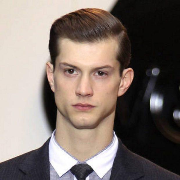 мужские стрижки: пристон классический вариант