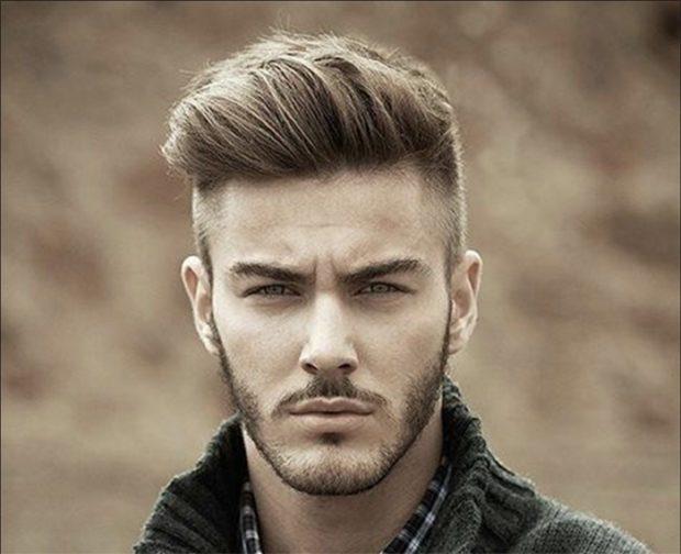 мужские стрижки: британка на длинные волосы
