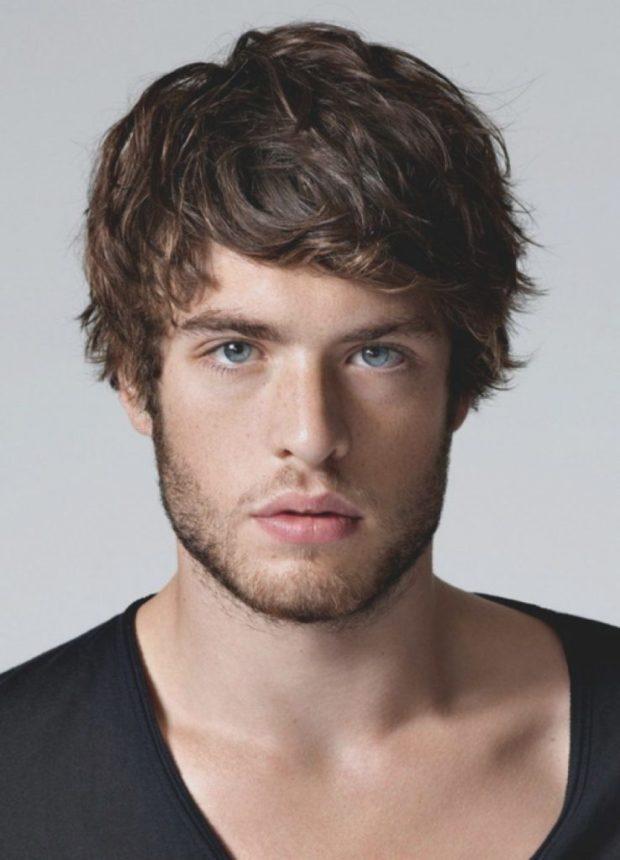 мужская стрижка: романтическая на среднюю длину волос