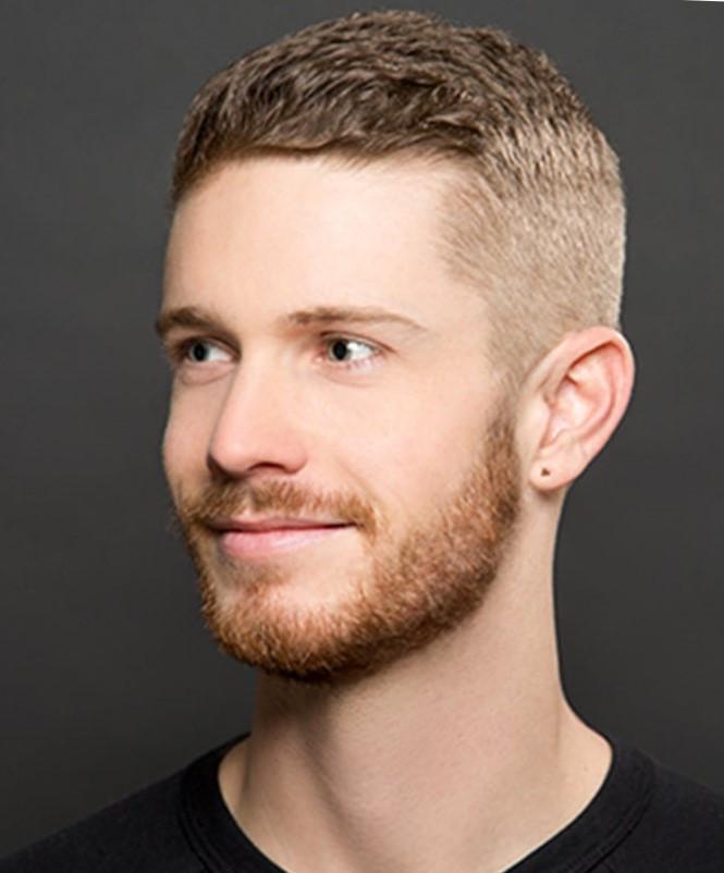 мужская стрижка: с выбритыми висками короткая