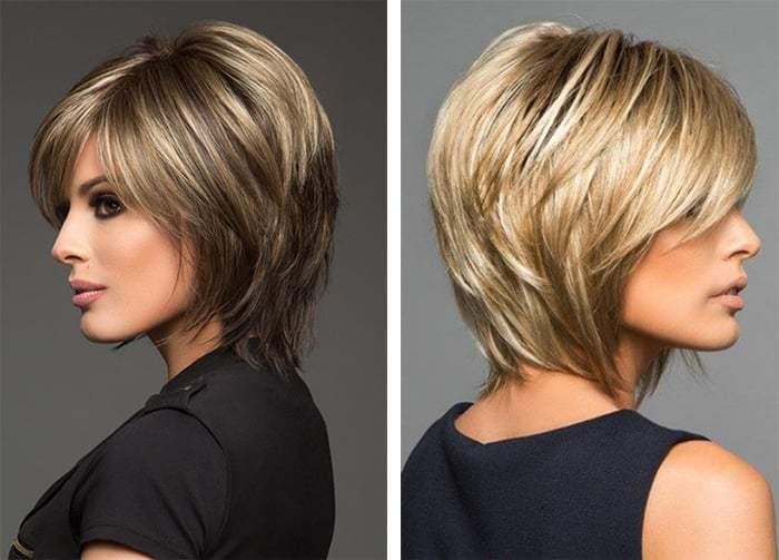 стрижка аврора на среднюю длину волос объемная