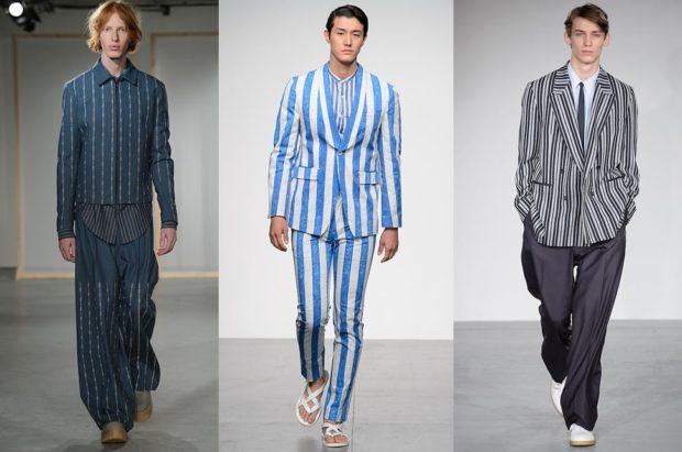 Мужская мода весна лето 2020: полосатые брючные костюмы