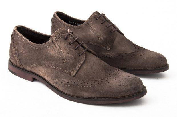 серо-коричневые туфли
