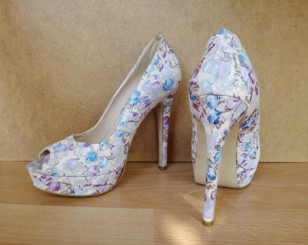 туфли на высоком каблуке цветные с открытым носком