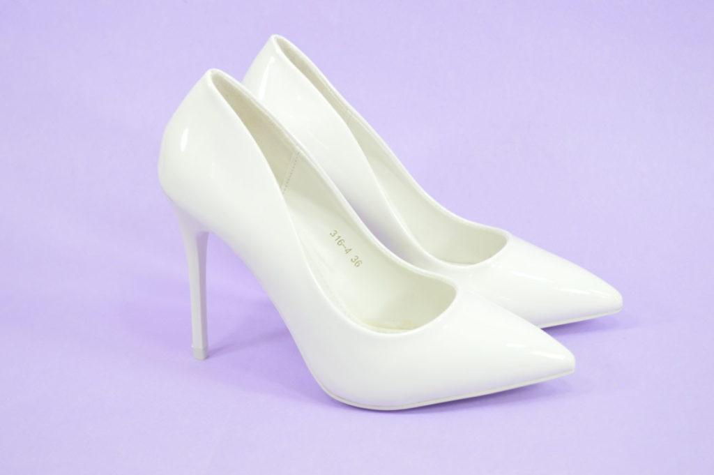 туфли на среднем каблуке белые лодочки