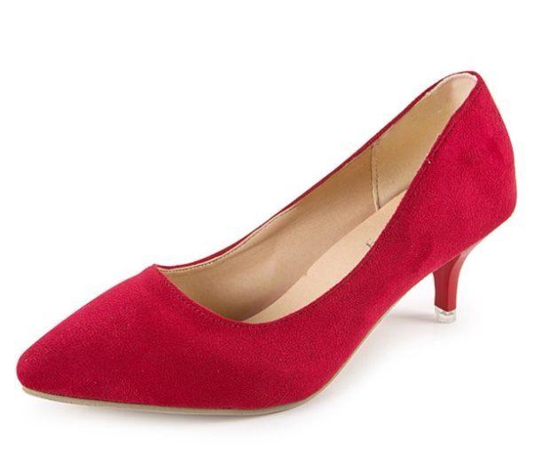 туфли на низком каблуке красные лодочки замша