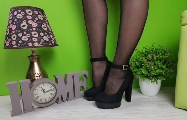 туфли с застежкой черные замша
