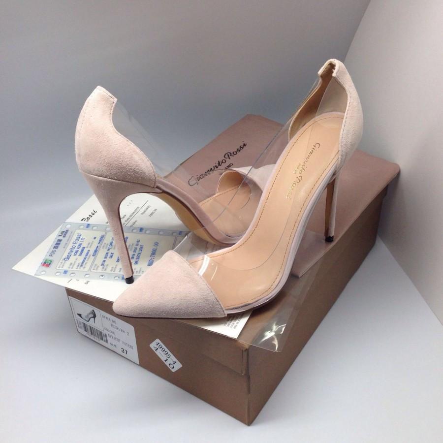туфли с открытыми боками бежевые на шпильке