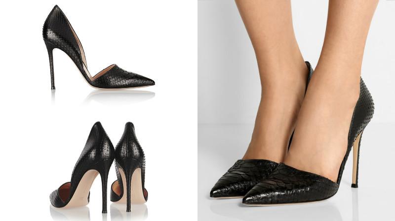туфли с открытыми боками кожаные черные