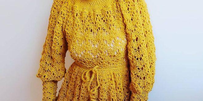 Модные вязаные платья 2021 2022 — тенденции, фото.
