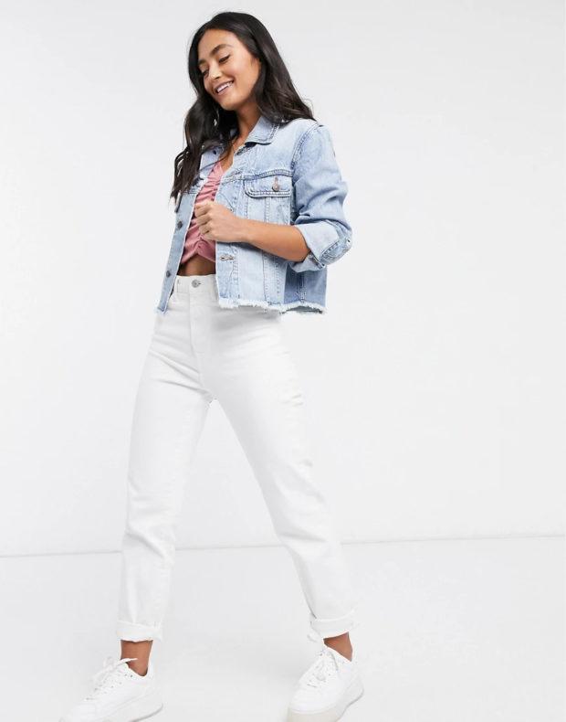 женские модные джинсовые куртки 2021